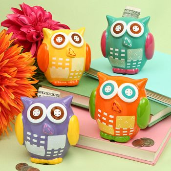 Owl Design Bank Four Assorted Colorswholesale/12044.jpg Wedding Supplies