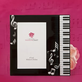 Music Design Glass Photo Framewholesale/12056.jpg Wedding Supplies