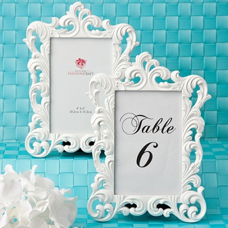 Baroque Design White Framewholesale/12802lg.jpg Wedding Supplies