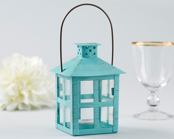 Vintage Blue Distressed Medium Size Lantern200  Weddings