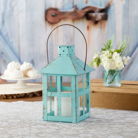 VINTAGE BLUE DISTRESSED LANTERN - EXTRA LARGEwholesale/14137BL-1-l.jpg Wedding Supplies