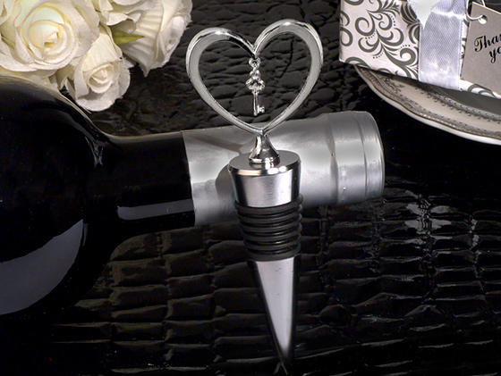 Key To My Heart Wine Stopper200  Weddings