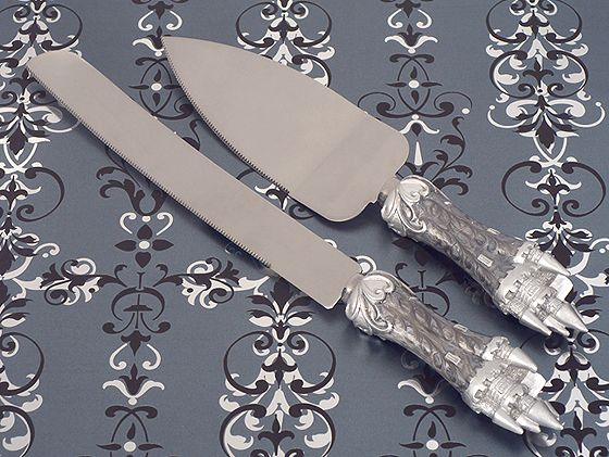 Platinum Castle Collection Cake And Knife Set200  Weddings