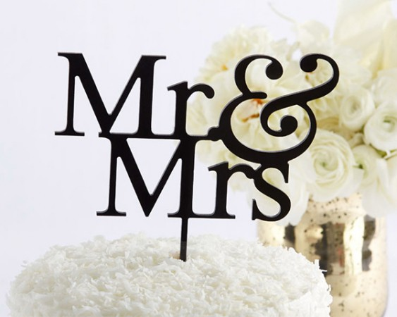 CLEARANCE Mr. & Mrs. Cake Topperwholesale/18091NA-mrmrs-caketopper-ka-l.jpg Wedding Supplies