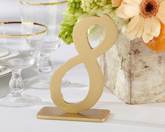 Good as Gold Classic Table Numbers (7-12)200  Weddings