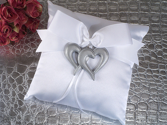 Two Hearts Beat As One Ring Pillow200  Weddings