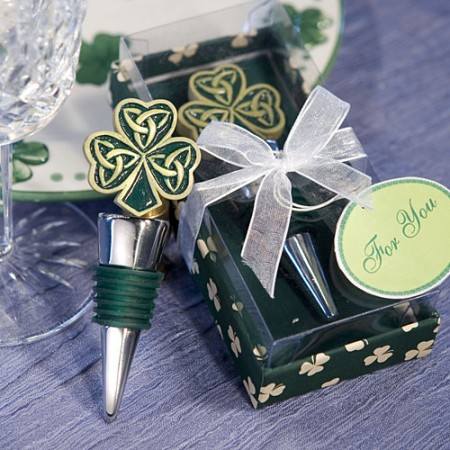 Shamrock / Trinity Love Knot Bottle Stopperswholesale/1922lg.jpg Wedding Supplies