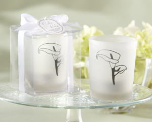 Calla Lily Frosted Tealight Holder (set of 4)  Weddings