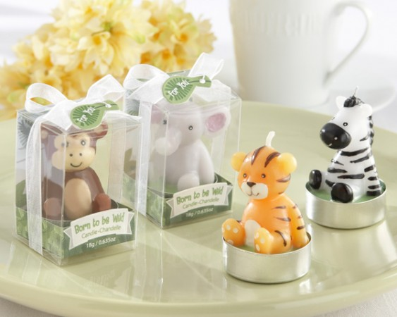 Animal Candles Set of 4 Assorted baby shower favors