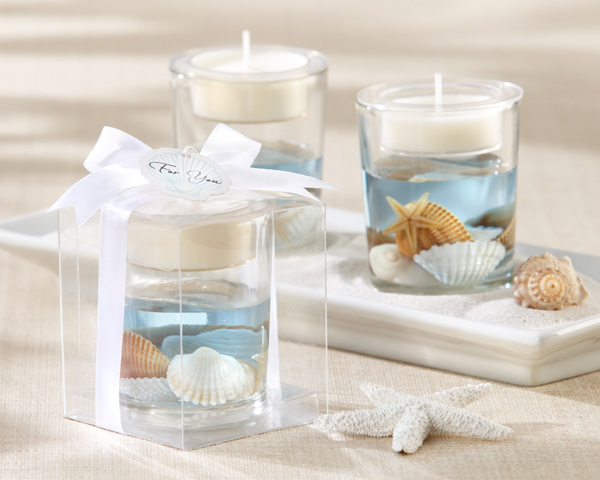 Seashell Gel Tealight Holder  Weddings