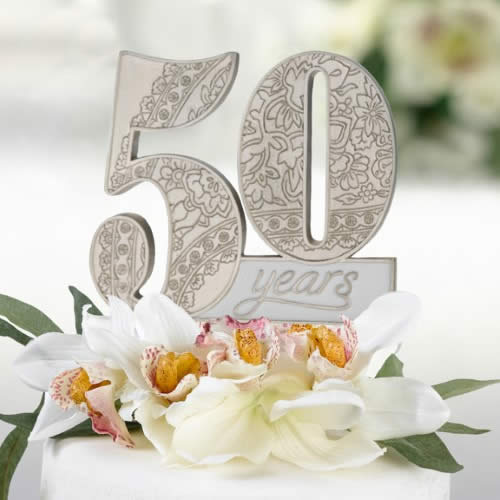 50th Anniversary Cake Pick  Weddings