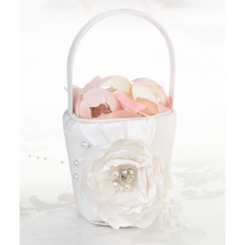 Chic n Shabby Flower Girl Basket  Weddings