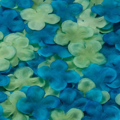 Flower Petals -Blue/Green  Weddings
