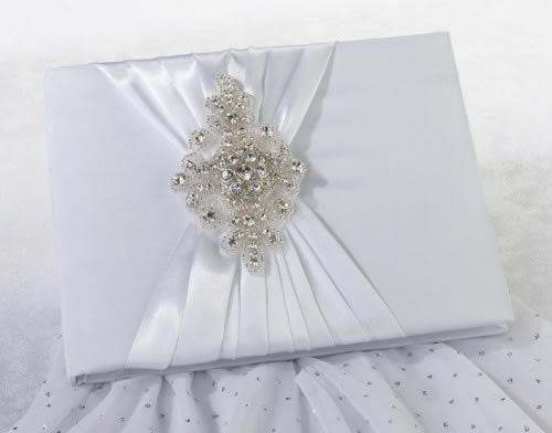 CLEARANCE Jeweled Motif Guest Book & Pen Set200  Weddings
