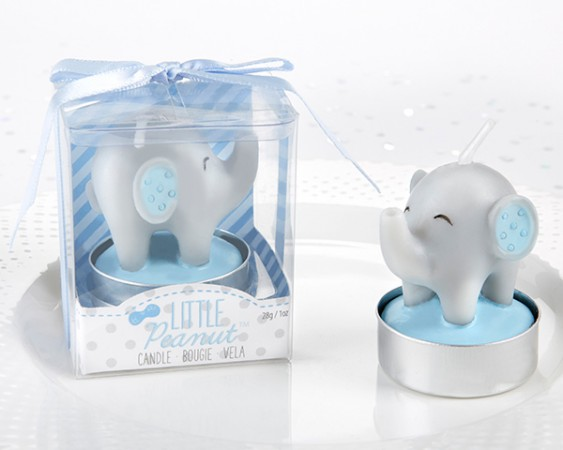 Elephant Shaped Candle - Little Peanut (Blue) (Set of 4) baby shower favors