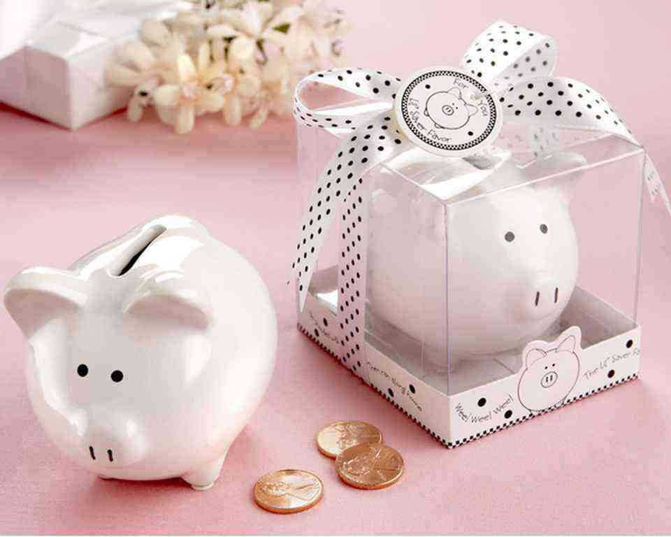 Lil Saver Favor Ceramic Mini-Piggy Bank in Gift Box baby shower favors