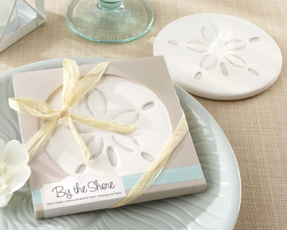 By the Shore Sand Dollar Coaster200  Weddings