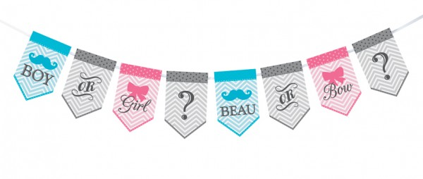 Gender Reveal Bunting baby shower favors