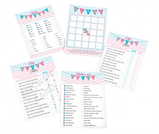 Gender Reveal Baby Shower Games� baby shower favors