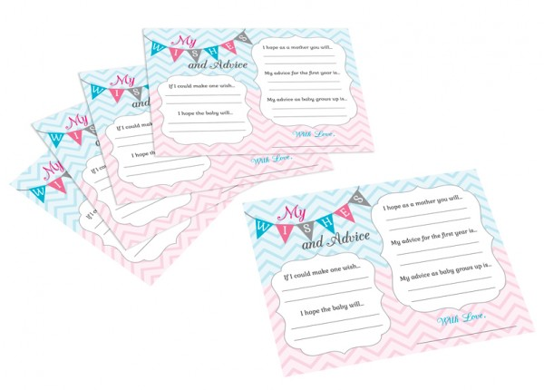Gender Reveal Wishes Cards� baby shower favors
