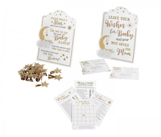 Twinkle Twinkle Little Star Theme Baby Shower Game Set baby shower favors
