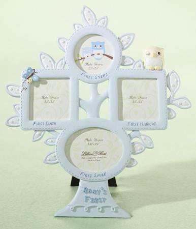 CLEARANCE Blue Owl 1st Year Picture Frame baby shower favors