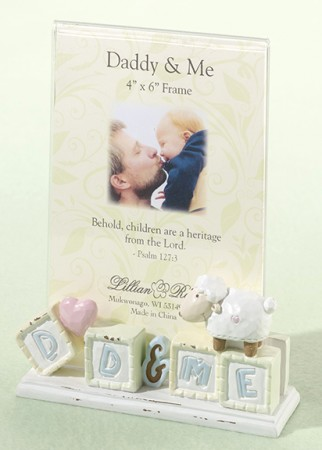 Little Lamb Daddy & Me Frame baby shower favors