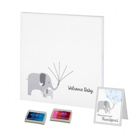 Baby Elephant Baby Shower Guest Book Alternative baby shower favors