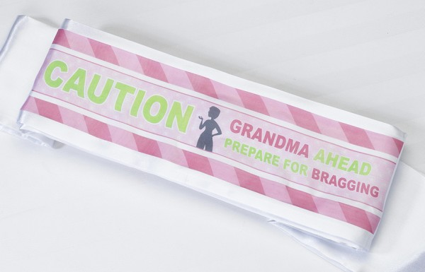 Grandma To Be Sash baby shower favors