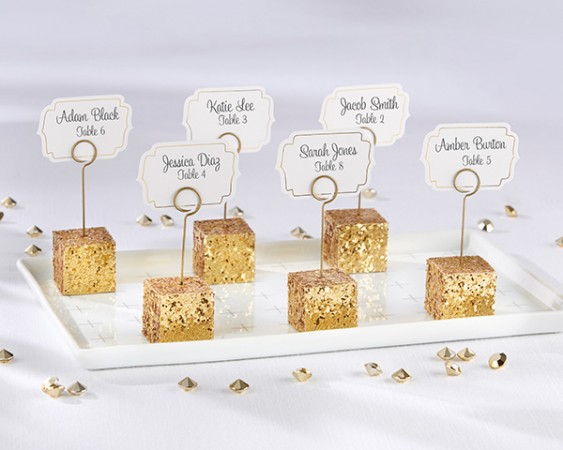 Gold Glitter Placecard Holders (Set of 6)  Weddings