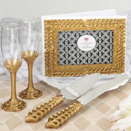 GOLD LATTICE BOTANICAL COLLECTION SETwholesale/2530lg.jpg Wedding Supplies