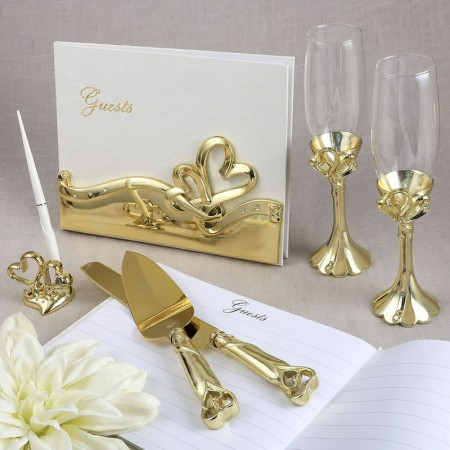 Gold Double Heart Wedding Setwholesale/2537lg.jpg Wedding Supplies