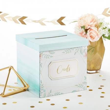 GEOMETRIC FLORAL CARD BOXwholesale/28492GG-1-l.jpg Wedding Supplies