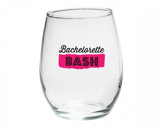 Bachelorette Bash 15 oz. Stemless Wine Glasses - (Set of 4)  Weddings