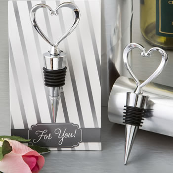All Metal Heart Wine Bottle Stopperwholesale/3503.jpg Wedding Supplies