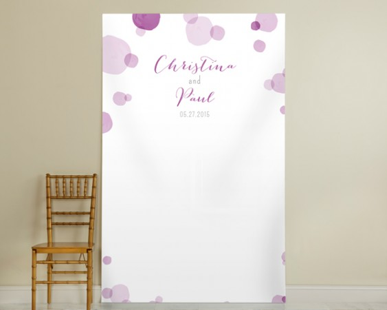 Personalized Orchid Photo Backdrop - Dotswholesale/40073NA_Orchid-Dots-Backdrop_40073NA_L.jpg Wedding Supplies
