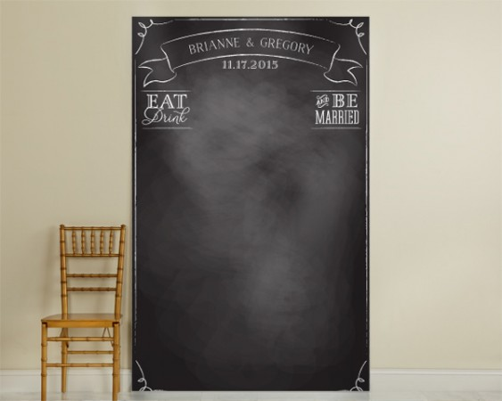 Personalized Chalkboard Photo Backdropwholesale/40103NA_EatDrinkMarried_L.jpg Wedding Supplies