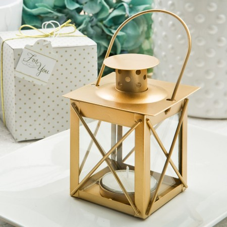 Love lights the way luminous lantern in a matte gold finish200  Weddings
