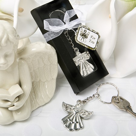 Guardian Angel Key Ring Favor200  Weddings