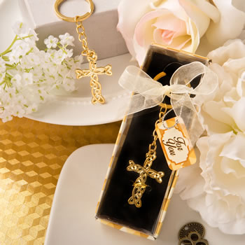 Dramatic Gold Metal Cross With Intricate Intertwined Design200  Weddings