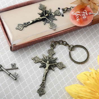 Jesus On The Cross Design Key Chainwholesale/6169.jpg Wedding Supplies
