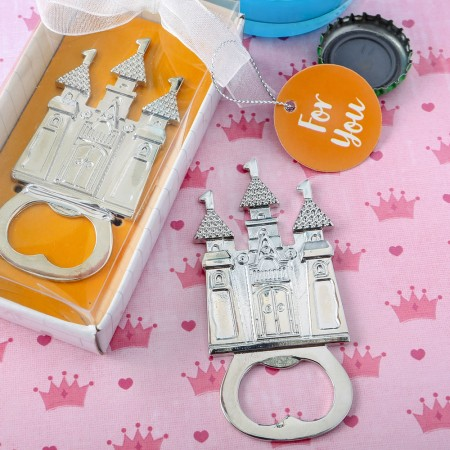 CASTLE THEMED SILVER METAL BOTTLE OPENER  Weddings