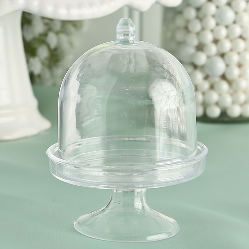 Mini Cake Stand - Plastic Box From The Perfectly Plain Collectionwholesale/6773lg.jpg Wedding Supplies
