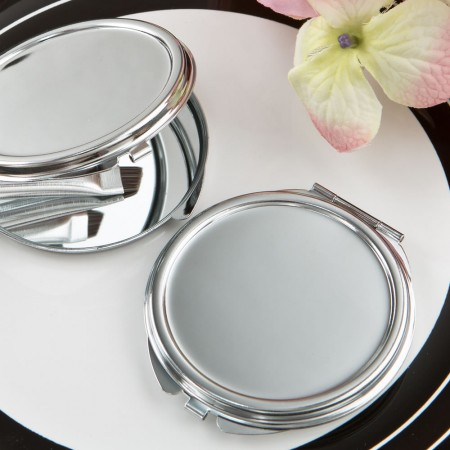 Silver Metal Mirror Favor  Weddings