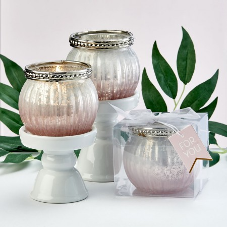PINK OMBRE VINTAGE MERCURY GLASS VOTIVE CANDLE HOLDERwholesale/7855lg.jpg Wedding Supplies