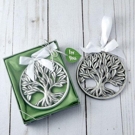TREE OF LIFE PEWTER FINISH HANGING ORNAMENTwholesale/8241lg.jpg Wedding Supplies