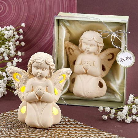 ANGEL DESIGN LIGHT UP LED PRAYING ANGEL FIGURINE baby shower favors