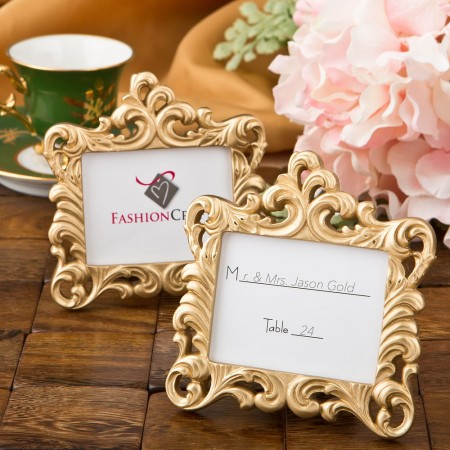 Gold Baroque style frame  Weddings