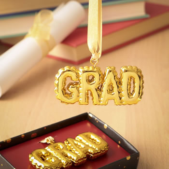 Gold Grad Hanging Ornament Giftwholesale/88008.jpg Wedding Supplies