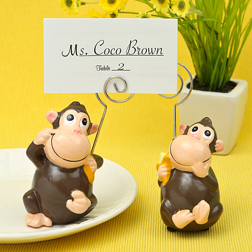 Hand Painted Ceramic Monkey Place Card - Photo Holderswholesale/8826lg.jpg Wedding Supplies